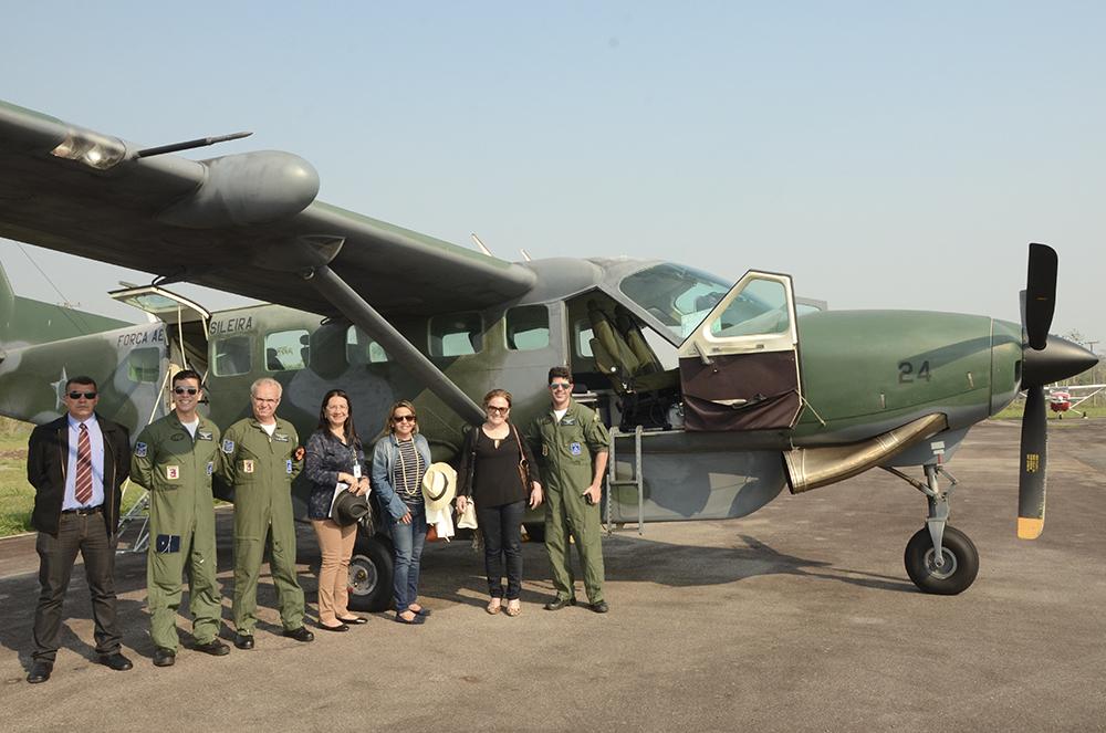 Equipe se desloca de avião modelo Caravan da Força Aérea Brasileira (FAB) para ampliar o acesso dos cidadãos mais isolados à Justiça.