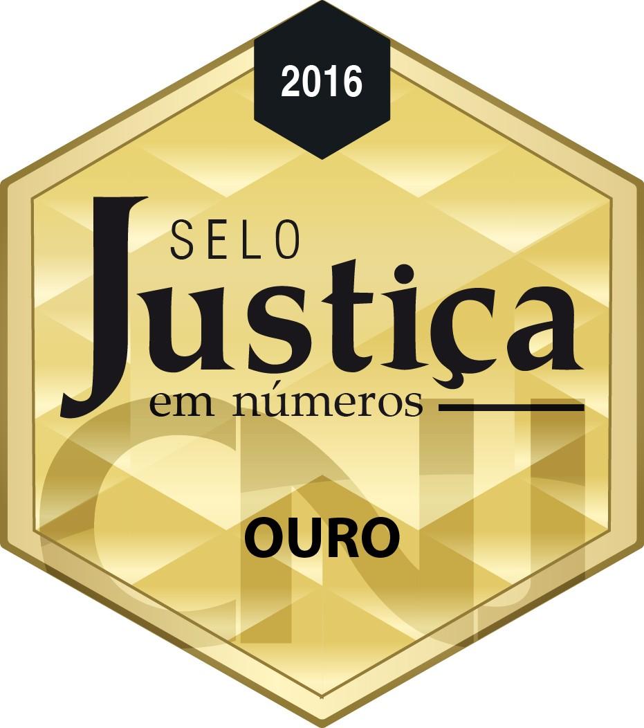 Selo CNJ Ouro 2016