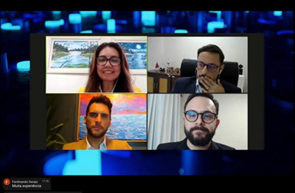 Imagem da videoconferência com a participação da juíza de Direito Andréa Brito do TJAC.
